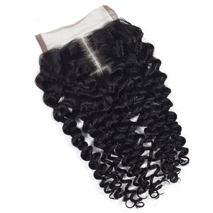 Brazilian Kinky Curly Lace Closure Middle Part
