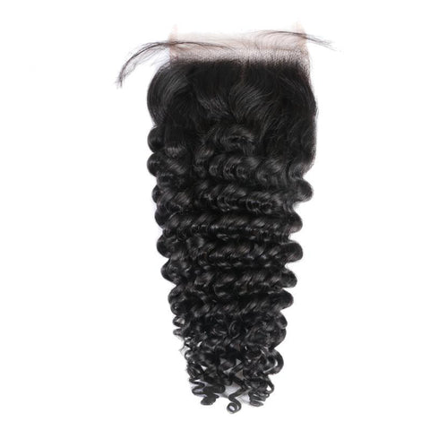 Premium Brazilian Deep Wave Brazilian Free Part Lace Closure