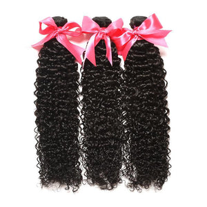 Kinky Curly Brazilian Remy hair 3 bundle deal