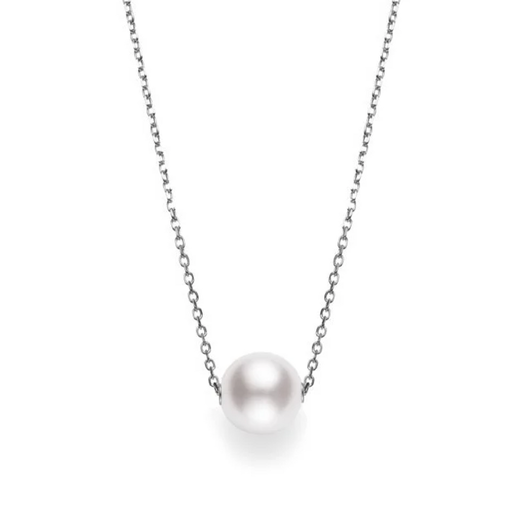 Japanese Akoya Pearl Pendant in White Gold