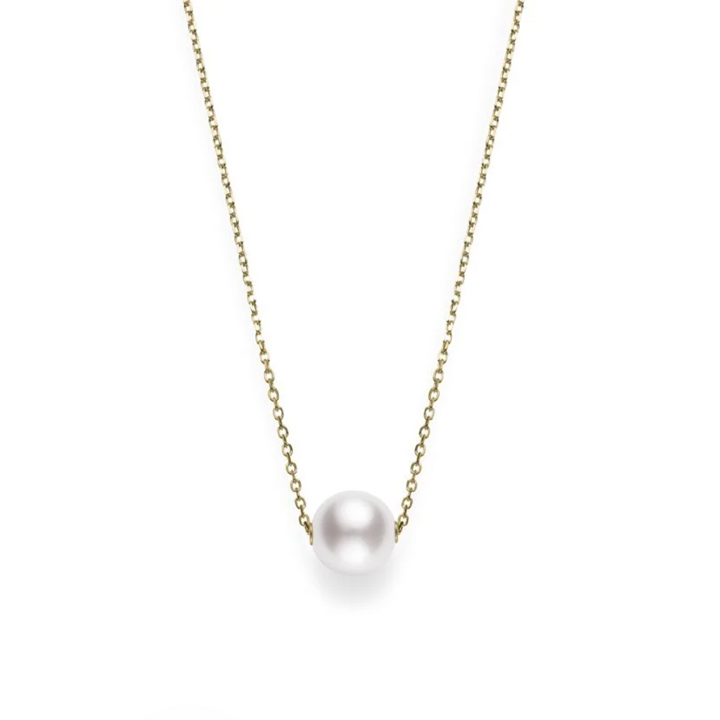 Japanese Akoya Pearl Pendant in Yellow Gold