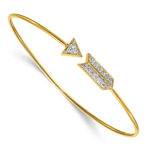 Diamond Arrow Bangle in Gold