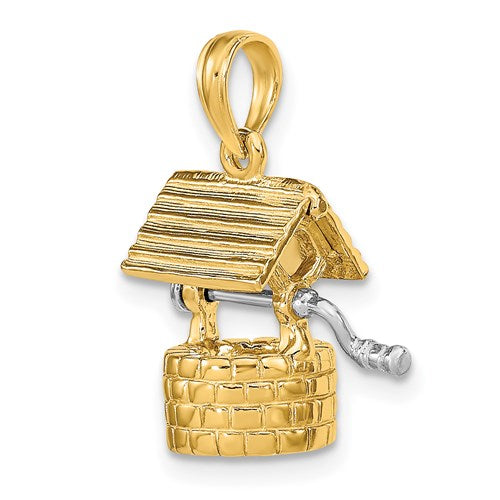 Wishing Well Charm in Gold