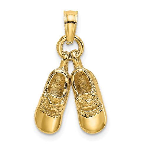 Baby Booties Charm in Gold