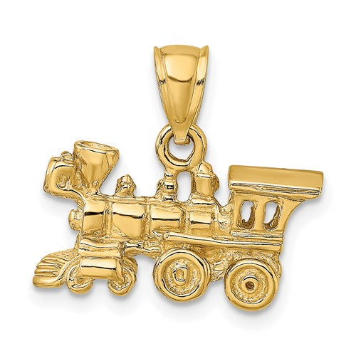 Train Charm in Gold