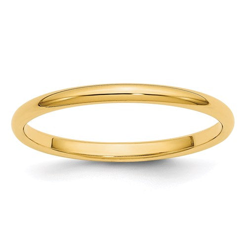 Wedding Band in Gold - 2mm Half Round