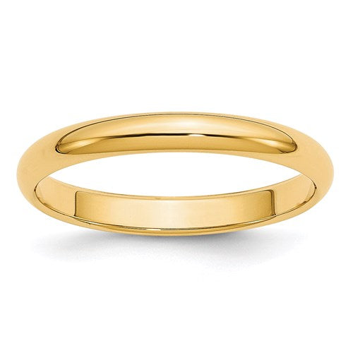 Wedding Band in Gold - 3mm Half Round