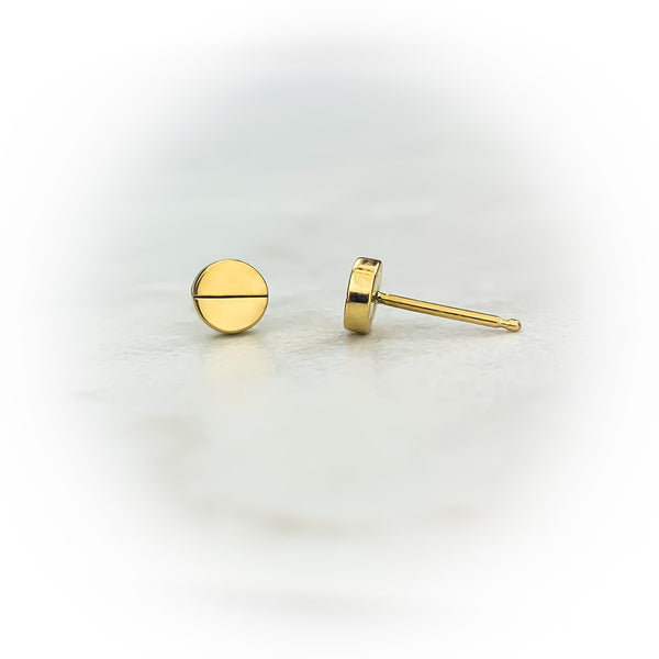 Gold Screw Earrings