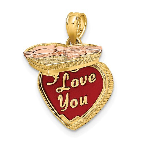 Enameled Candy Box Charm in Gold