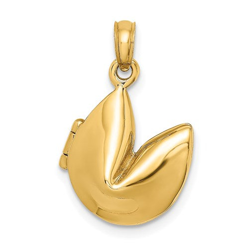 Fortune Cookie Charm in Gold