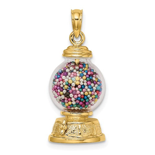 Gumball Machine Charm in Gold