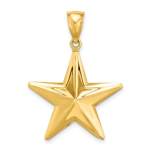 Nautical Star Charm in Gold