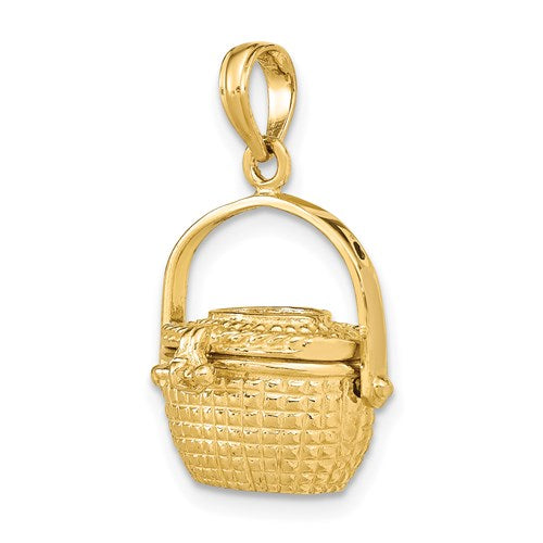 Nantucket Basket Charm in Gold