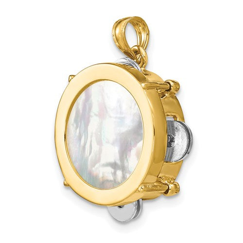 Tambourine Charm in Gold