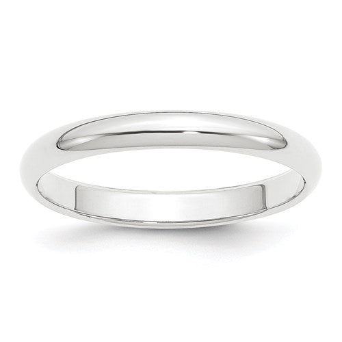 Wedding Band in Platinum - 3mm Half Round