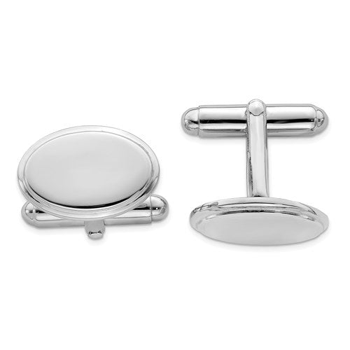 Oval Cufflinks in Sterling Silver