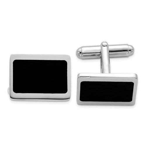 Rounded Rectangle Cufflinks in Sterling Silver