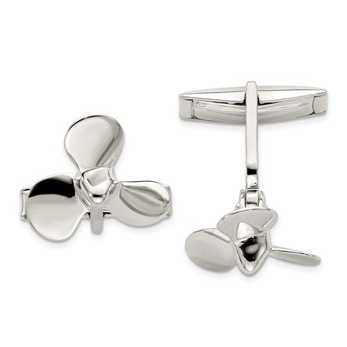 Propeller Cufflinks in Sterling Silver