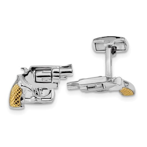 Revolver Cufflinks in Sterling Silver