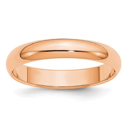 Wedding Band in Rose Gold - 4mm Half Round