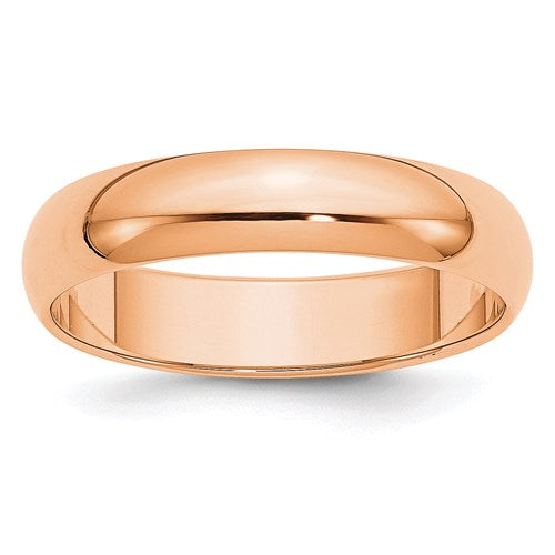 Wedding Band in Rose Gold - 5mm Half Round