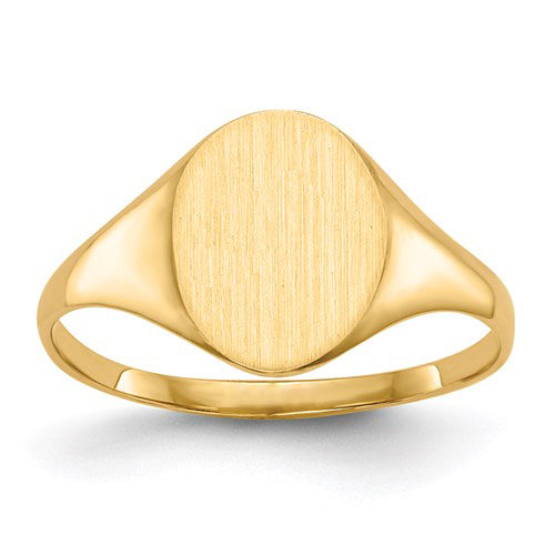 Oval Signet Ring in Gold - Extra Small