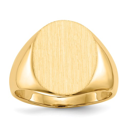 Oval Signet Ring in Gold - Medium