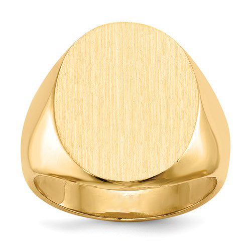 Oval Signet Ring in Gold - Large