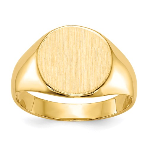 Round Signet Ring in Gold - Small