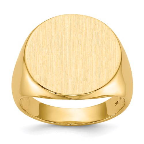 Round Signet Ring in Gold - Large
