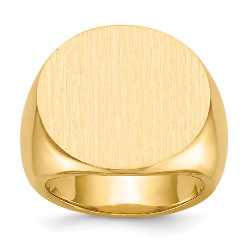 Round Signet Ring in Gold - Extra Large