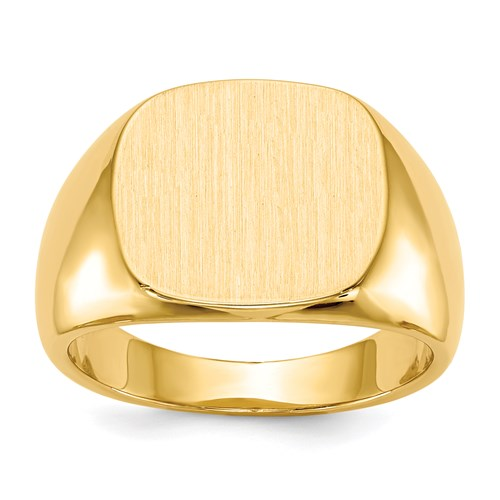 Classic Signet Ring in Gold - Large