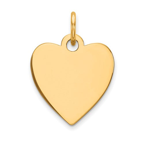 Engravable Heart Disc Charm in Gold