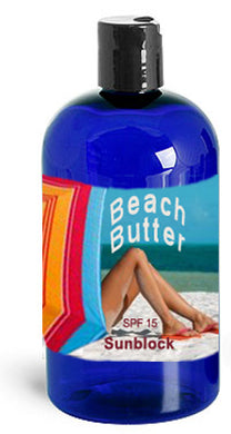 BEACH BUTTER Sun Protection Lotion  8 oz bottle