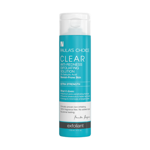 CLEAR Extra Strength Anti-Redness Exfoliating Solution with 2% Salicylic Acid