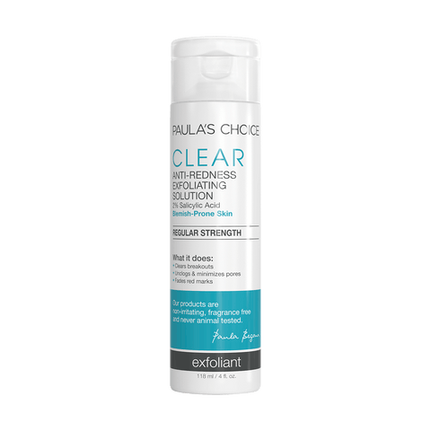 CLEAR Regular Strength Anti-Redness Exfoliating Solution with 2% BHA