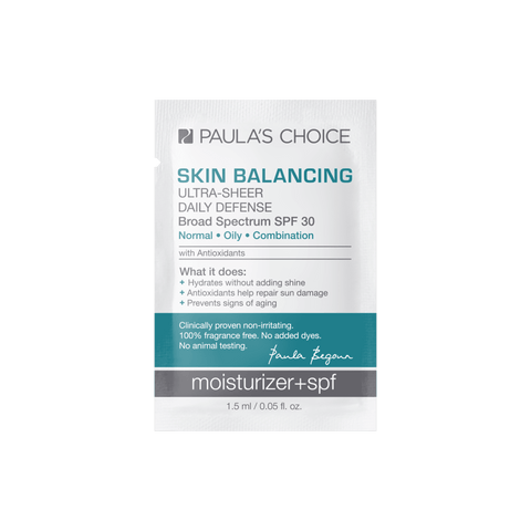 SKIN BALANCING Ultra-Sheer Daily Defense Broad Spectrum SPF 30 Sample