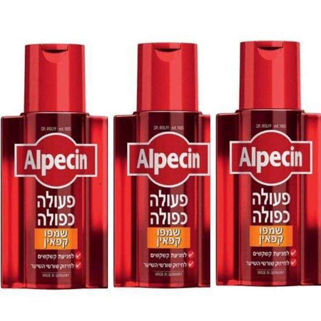 3x Alpsin and double action caffeine shampoo baldness Problems