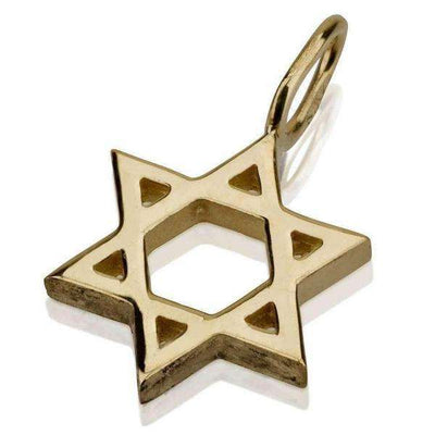 14K Classic Small, Star of David Necklace