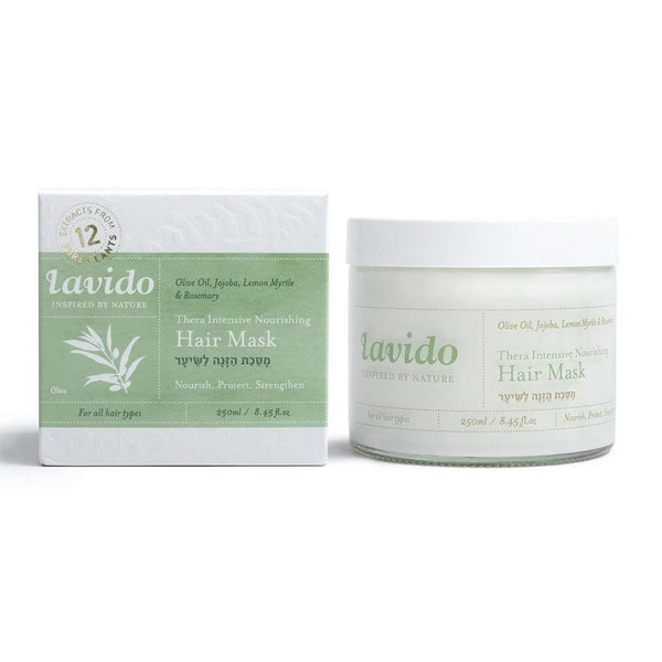 Lavido -250ml - GreenAid ™ Hair Mask - olive oil, jojoba, citrus and rosemary - vegan