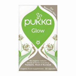 Pukka -  Glow - 30 capsules - Acne, eczema, psoriasis, dermatitis, manifold, skin allergies and more