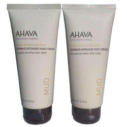 AHAVA Value Set Dermud Hand Cream and Foot Cream, Dead Sea Cosmetics-Israel-Cart