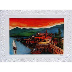 "Amram Ebgi ""Sea of ​​Galillee"" Lithographie-Israel-Cart"