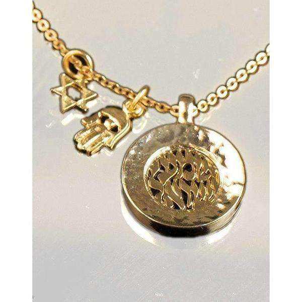Anava Jewelry Gold Plated, Shema Yisrael Necklace-Israel-Cart