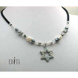 Edita - Sparkling Silver Star- Handcrafted Israeli Necklace-Israel-Cart