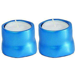 2x Yair Emanuel Anodized Aluminium Tea Candles Türkis