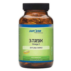 Kosher Omega-3 180 (3 X 60) Softgels - SupHerb-Israel-Cart