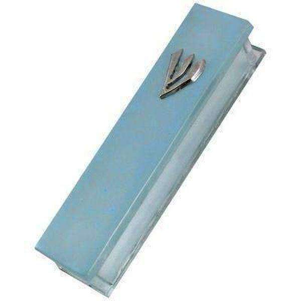 Matte Frosted Glass Mezuzah Case with Shin-Israel-Cart