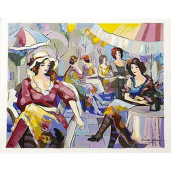 "Michael Kerman ""Cafe"" 2004 Serigraph-Israel-Cart"
