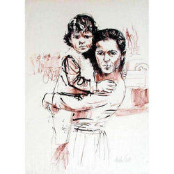 "Moshe Gat ""Mother and Child"" Lithograph-Israel-Cart"